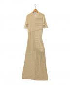 TODAYFUL(トゥデイフル)の古着「パッチワークニットドレス」 ベージュ