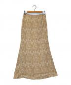 TODAYFUL(トゥデイフル)の古着「マーブルペンシルスカート」 ベージュ