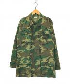 US ARMY(ユーエスアーミー)の古着「4Thジャングルファテーグジャケット」|グリーン