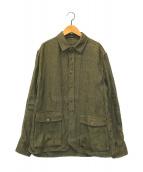 ()の古着「リネンシャツジャケット」|カーキ