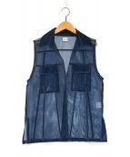 ()の古着「シースルーN/Sシャツ」|ブルー
