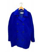 ()の古着「ウールカシミヤPコート」 ブルー