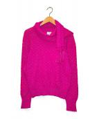 ()の古着「アルパカブレンドストールニット」|ピンク