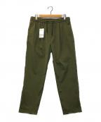 uniform experiment(ユニフォームエクスペリメント)の古着「ソロテックスストレッチツイルワンタックワイドテーパードイージ」|オリーブ