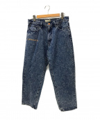 WIND AND SEA(ウィンダンシー)の古着「Mid Rise Wide Tapered Jeans」|インディゴ