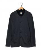 ARMANI COLLEZIONI()の古着「ノーカラージャケット」|ネイビー