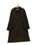 BEAUTY&YOUTH(ビューティアンドユース)の古着「リバーラップスタンドカラーコート」|ブラウン