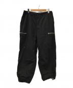 SSZ(エスエスジィー)の古着「PARASITE ZIP PANTS(パラサイトジップパンツ」|ブラック