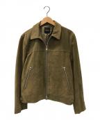 BEAMS(ビームス)の古着「スウェードジップジャケット」|グリーン