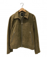 BEAMS (ビームス) スウェードジップジャケット グリーン サイズ:M