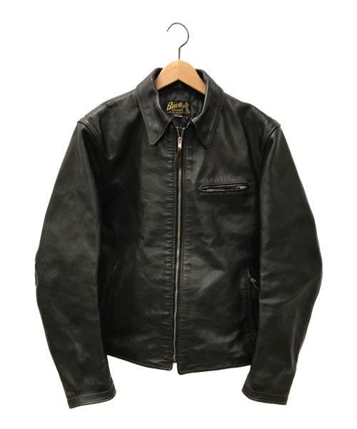Buco(ブコ)Buco (ブコ) ホースハイドシングライダースジャケット ブラック サイズ:44の古着・服飾アイテム