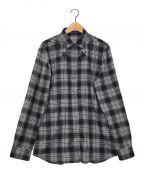 GIVENCHY()の古着「スターチェックシャツ」|グレー