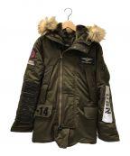 AVIREX()の古着「カスタムN-3Bジャケット」|カーキ