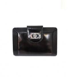 CHANEL(シャネル)の古着「2つ折り財布」 ブラック