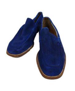 Crockett & Jones(クロケット&ジョーンズ)の古着「スウェードシューズ」 ブルー