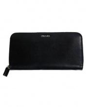 PRADA(プラダ)の古着「ラウンドファスナー財布」|ブラック