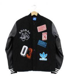 adidas originals(アディダスオリジナル)の古着「バーシティジャケット」|ブラック