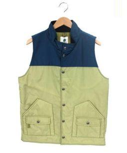 SIERRA DESIGNS(シェラデザイン)の古着「中綿ベスト」|ブルー×ベージュ