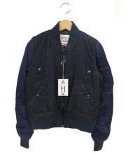 ALPHA(アルファ)の古着「MA-1ジャケット」|インディゴ