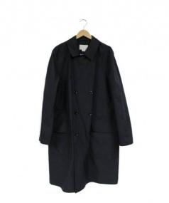 nanamica(ナナミカ)の古着「ダブルナイロントレンチコート」|ブラック