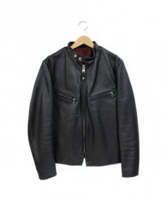 Schott(ショット)の古着「シングルレザーライダースジャケット」|ブラック