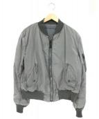 ALPHA(アルファ)の古着「MA-1ジャケット」|グレー