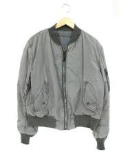 ALPHA(アルファ)の古着「MA-1ジャケット」 グレー