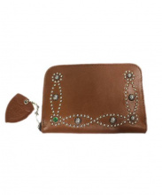 HTC(エイチティーシー)の古着「スタッズ付財布」|ブラウン