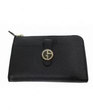 GIORGIO ARMANI(ジョルジオアルマーニ)の古着「レザー財布」|ブラック