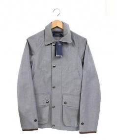 POLO RALPH LAUREN(ポロ ラルフローレン)の古着「ウォーターレジスタントウールコート」|ライトグレー