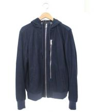 DIESEL(ディーゼル)の古着「シープスキンフーデッドジャケット」|ネイビー