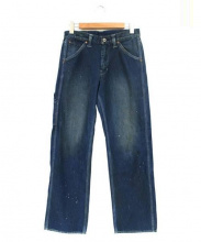 Stevenson Overall Co.(スティーブンソン オーバーオール)の古着「ペイント加工デニムパンツ」|インディゴ