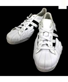 adidas×JEREMY SCOTT(アディダス×ジェレミースコット)の古着「ローカットスニーカー」|ブラック×ホワイト