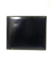 Fm(エフエム)の古着「2つ折りレザー財布」|ブラック×イエロー