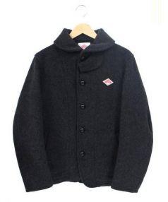 DANTON(ダントン)の古着「丸襟ウールモッサジャケット 」 ダークグレー