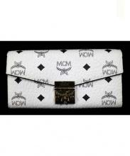 MCM(エムシーエム)の古着「長財布」|ホワイト×ブラック