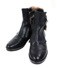 ELVIO ZANON(エルビオザノン)の古着「サイドジップブーツ」|ブラック
