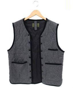 NIGEL CABOURN(ナイジェルケーボン)の古着「キルティングベスト」|グレー
