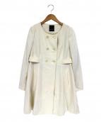 Banner Barrett(バナーバレット)の古着「ノーカラーウールコート」|アイボリー