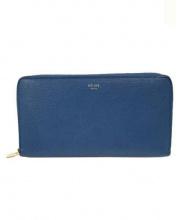 CELINE(セリーヌ)の古着「ラウンドファスナー長財布」|ブルー