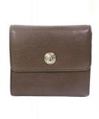 BVLGARI(ブルガリ)の古着「3つ折長財布」|ブラウン