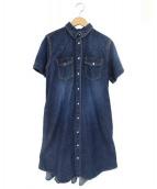 sacai(サカイ)の古着「デニム半袖ワンピース」|インディゴ