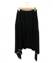 TARO HORIUCHI(タロウホリウチ)の古着「フリルデザインスカート」 ブラック