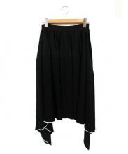 TARO HORIUCHI(タロウホリウチ)の古着「フリルデザインスカート」|ブラック