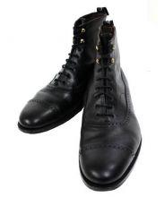 foot the coacher(フットザコーチャー)の古着「ストレートチップブーツ」|ブラック