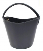 Maison Vincent(メゾン ヴァンサン)の古着「ラウンドショルダーバケツバッグ」|グレー