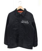 GALLIS ADDICTION(ガリスアディクション)の古着「中綿コーチジャケット」 ブラック