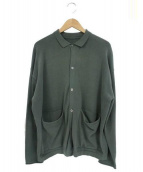 crepuscule(クレプスキュール)の古着「Knit Polo Long Sleeve」|グリーン