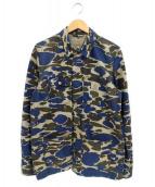 carhartt(カーハート)の古着「総柄ジャケット」|ブラウン×ネイビー