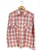BUTCHER PRODUCTS(ブッチャープロダクツ)の古着「リネンシャツ」|ホワイト×オレンジ